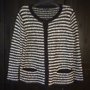 Anne Klein Boucle Sweater Jacket